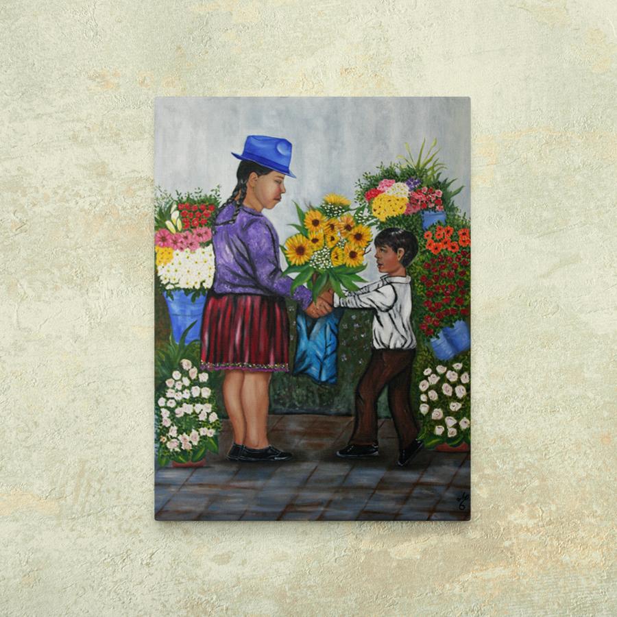 Mamacay vendedora de flores